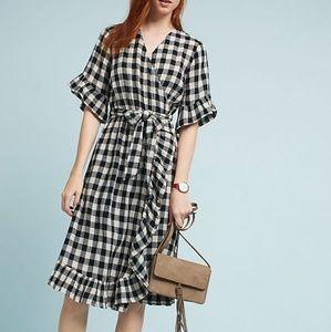 Isabella Sinclair plaid wrap dress